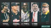 Trivia - 5 Pelatih Stefano Cugurra Teco, Robert Alberts, Jacksen F. Tiago, Simon McMenemy, Gomes de Oliveira (Bola.com/Adreanus Titus)