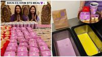 Sisca Kohl membuat es krim dari paket BTS Meal. (Tangkapan Layar Instagram @siscakohl)