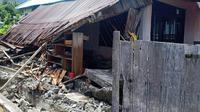Gempa Halmahera Selatan, Maluku Utara juga menerjang Desa Tabamasa pada Minggu, 14 Juli 2019. (Dok Badan Nasional Penanggulangan