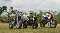 Modifikasi ekstrem Honda CRF150L pada program Honda Dream Ride (Herdi/LIputan6.com)