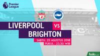 Premier League 2018-2019 Liverpool Vs Brighton and Hove Albion (Bola.com/Adreanus Titus)