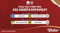 Jadwal dan Live Streaming Piala Voli Turki Putra 2021 Pekan Perdana di Vidio