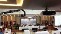 Suasana rapat pleno rekapitulasi suara di KPU, Senin (20/5/2019) malam. (Liputan6.com/Muhammad Radityo)