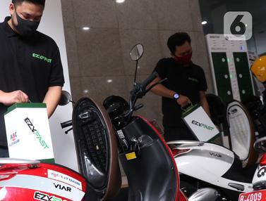 uji coba penukaran baterai kendaraan listrik