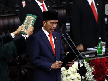 Momen Pelantikan Jokowi-Ma'ruf Amin sebagai Presiden dan Wakil Presiden