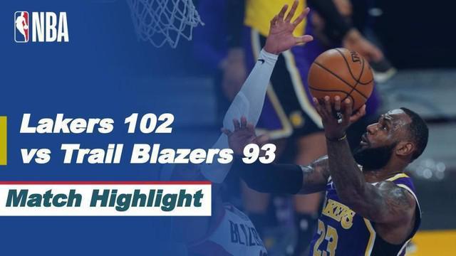 Berita video highlights NBA 2020/2021 antara LA Lakers melawan Portland Trail Blazers yang berakhir dengan skor 102-93, di mana dalam laga tersebut Damian Lillard tampil gemilang, Sabtu (27/2/2021) siang hari WIB.