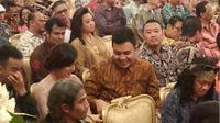 Raisa dan Tulus di Istana Negara, Jakarta.