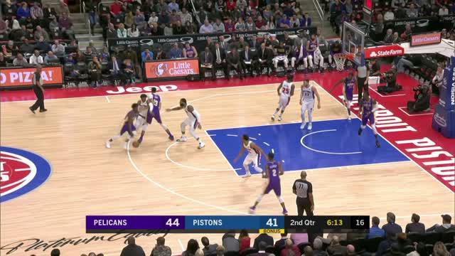 Berita video game recap NBA 2017-2018 antara New Orleans Pelicans melawan Detroit Pistons dengan skor 118-103.