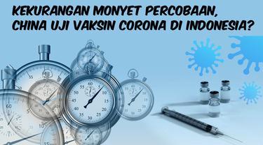 thumbnail kekurangan monyet, china uji vaksin corona di indonesia