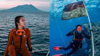 Momen Kirana Larasati Saat Diving. (Sumber: Instagram/kiranalarasti)