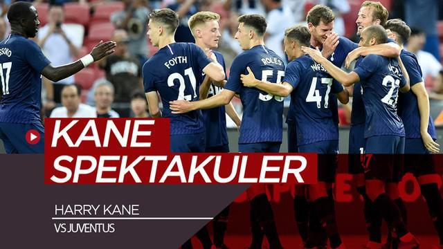 Berita video momen gol striker Tottenham Hotspur, Harry Kane, dari tengah lapangan saat menghadapi Juventus di ICC 2019 di Singapura, Minggu (21/7/2019).