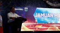 Gubernur DKI Jakarta Anies Baswedan memberi pernyataan terkait status tuan rumah Formula E 2020. (Liputan.com/Edu Krisnadefa)