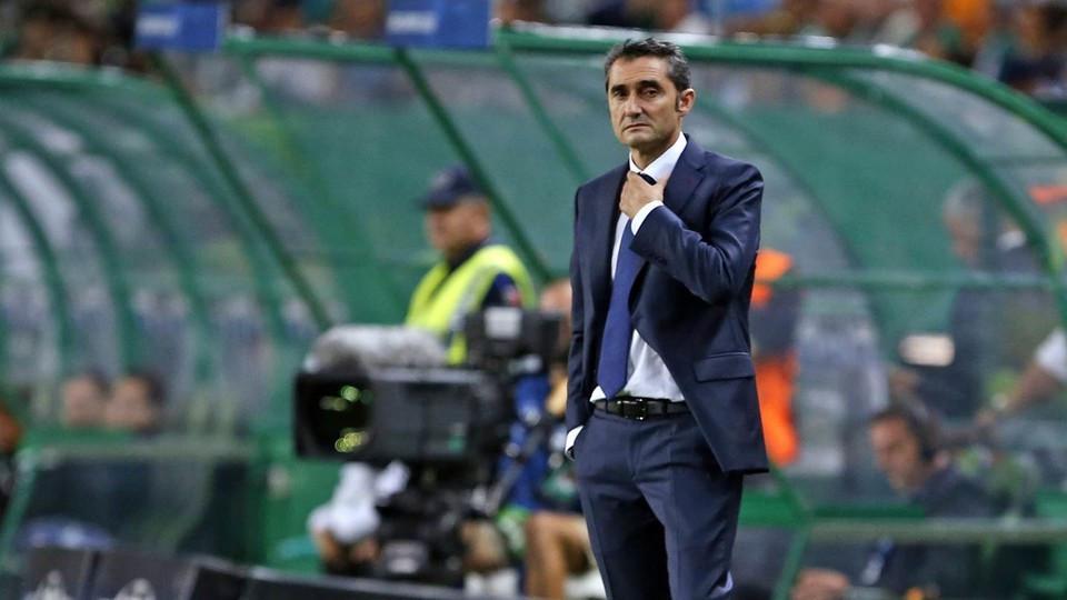Ernesto Valverde dengan hasil pertandingan yang diraih Barcelona. (doc. Barcelona)