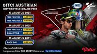 Jadwal dan Live Streaming MotoGP Seri Austria Akhir Pekan Ini di Vidio, 13-15 Agustus 2021. 9Sumber : dok. vidio.com)