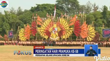 Sejak pagi mereka memantapkan diri untuk tampil dalam upacara nanti sore yang akan dihadiri Presiden Joko Widodo.