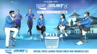 Konferensi pers Pocari Sweat Run Indonesia 2021. (Pocari Sweat Run Indonesia 2021).