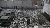 Perang di Yaman telah menciptakan apa yang disebut PBB sebagai krisis kemanusiaan terburuk di dunia (AP Photo/Hani Mohammed)
