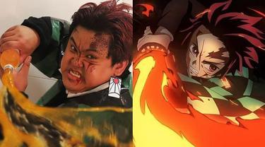6 Cosplay Low Budget Jadi Tanjiro Kamado Demon Slayer Ini Kocak