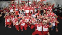 Pengamat MotoGP, Carlo Pernat, menilai Ducati sudah melakukan peningkatan drastis musim ini sehingga mampu tampil kompetitif di MotoGP 2017. (dok. MotoGP)