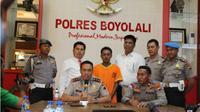 Kapolres Boyolali AKBP Aries Andhi, Senin (8/10 - 2018), memberikan keterangan mengenai kasus pembunuhan ibu muda di Musuk, Boyolali. (Solopos.com/Istimewa)