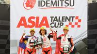 Pebalap Astra Honda Racing Team, Gerry Salim, berhasil naik podium pada balapan pertama Asia Talent Cup 2017 di Sirkuit Sepang, Malaysia, Minggu (3072017). (Asia Talent Cup)