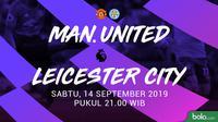 Premier League - Manchester United Vs Leicester City (Bola.com/Adreanus Titus)