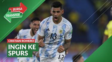 berita video bursa tranfer kali ini ada bek Timnas Argentina, Cristian Romero ingin bergabung dengan Tottenham Hotspur.