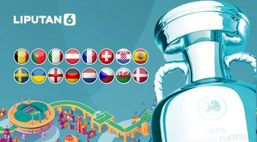 Banner Babak 16 Besar Euro 2020