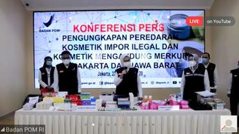 BPOM: Penjualan Online Kosmetik dan Obat Ilegal Meningkat Saat Pandemi Covid-19