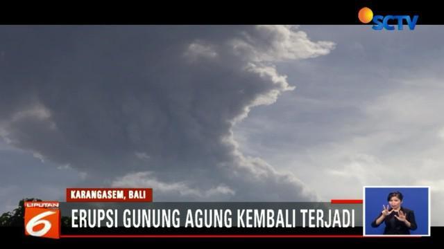 Erupsi abu vulkanik Gunung Agung diperkirakan akan terus terjadi.