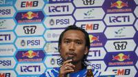 Gelandang Persib Hariono tetap optimis menghadapi leg kedua menghadapi Arema FC. (Huyogo Simbolon)