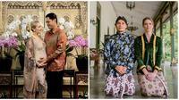 Pesona istri bule para selebriti yang semakin menawan saat pakai kebaya. (Sumber: Instagram/@randpunk/@varshaadhikumoro)