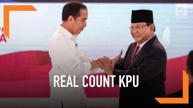 KPU terus melakukan rekapitulasi jumlah suara dalam pilpres 2019. Hingga kini sudah hampir 55% suara nasional yang dihitung. Siapa sementara memimpin?