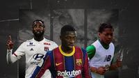 Moussa Dembele, Ousmane Dembele dan Karamoko Dembele. (Bola.com/Dody Iryawan)