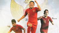Timnas Indonesia - Egy Maulana Vikri, Osvaldo Haay, Evan Dimas (Bola.com/Adreanus Titus)