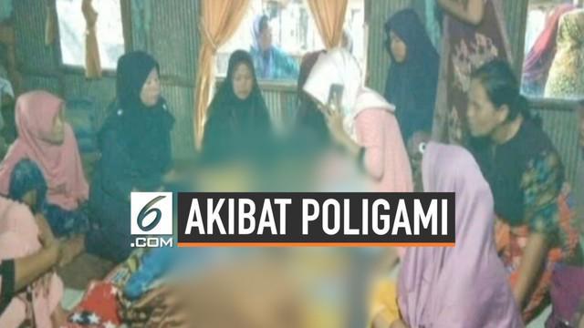 Seorang perempuan tega membunuh suaminya sendiri karena tidak terima suaminya berpoliami. Pelaku menyiram korban dengan air panas hingga korban tewas.