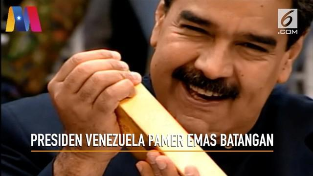 Presiden Venezuela memimpin rapat dengan para menteri mengumumkan mata uang baru Bolivar dan ketersediaan emas batangan.
