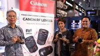 Canon Rilis 3 Lensa Seri RF Anyar untuk Lengkapi Mirrorless Full-Frame EOS R System. (sumber: istimewa)