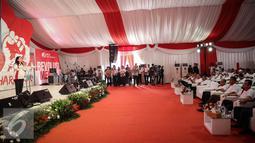 Suasana dalam acara Deklarasi  Revolusi Mental dilingkungan BPJS Ketenagakerjaan, Jakarta, Rabu (23/3). BPJS Ketenagakerjaan dapat menjadi pelopor perubahan dalam Gerakan Nasional Revolusi Mental. (Liputn6.com/Faizal Fanani)