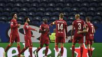 Liverpool pesta gol ke gawang FC Porto pada matchday kedua grup B Liga Champions 2021/2022 di Estadio do Dragao, Rabu (29/9/2021) dini hari WIB. (AFP/Miguel Riopa)