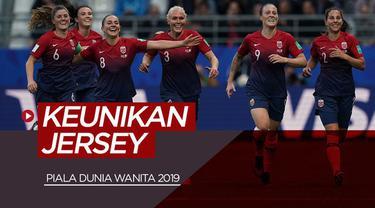 Berita video jersey-jersey tim peserta Piala Dunia Wanita 2019 memiliki keunikan tersendiri masing-masing. Siapa saja yang masuk dalam kategori terbaik?