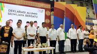 Alumni Sriwijaya Bersatu mendeklarasikan diri mendukung kemenangan Jokowi - Ma'ruf Amin di Pilpres 2019 (Liputan6.com / Nefri Inge)