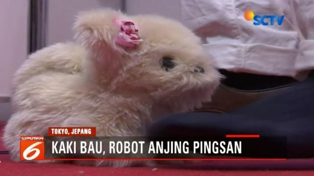 Hana-chan, robot berbentuk anjing karya Next Technology ini sensitif terhadap bau dan akan berlagak pingsan jika mencium bau kaki.