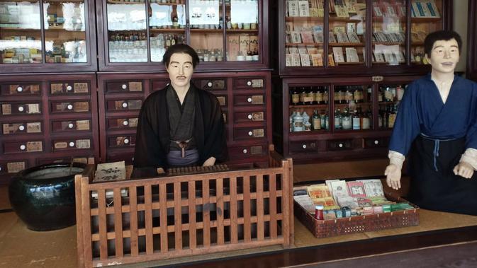 Gambaran kehidupan sehari hari masyarakat Jepang saat era Meiji (Liputan6.com/ Mevi Linawati)