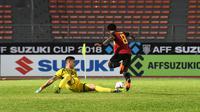Kiper Filipina, Michael Falkesgaard saat sedang menghadapi Timor Leste pada laga lanjutan Grup B Piala AFF 2018. (AFF Suzuki Cup)