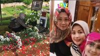 Potret Lisma Gumelar Ziarah ke Makam Rina Gunawan. (Sumber: Instagram.com/lisma_gumelar dan Instagram.com/silvanahermanreal_ano)