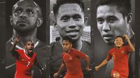 Timnas Indonesia - Boaz Solossa, Andik Vermansah, Evan Dimas (Bola.com/Adreanus Titus)