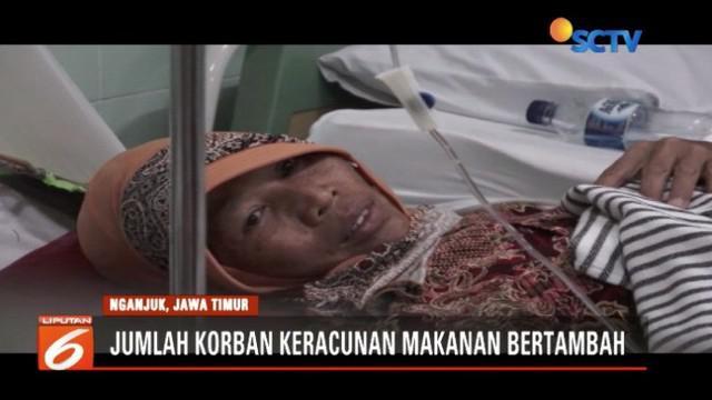 Keracunan makanan hajatan aqiqah di Nganjuk, Jawa Timur, bertambah menjadi 92 orang.