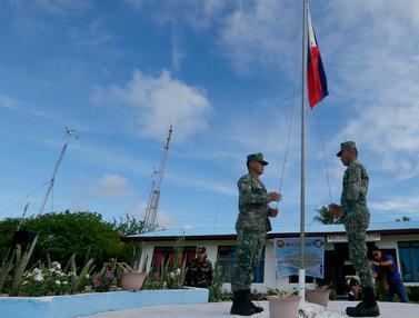 Filipina Kibarkan Bendera Negara di Pulau Thitu