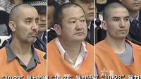 Tiga orang yang dijatuhi hukuman mati akibat menjadi dalang insiden tabrakan maut di Tiananmen, China. (Reuters)